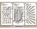 MTHS005 Stampers Anonymous Tim Holtz Layering Stencil - Mini Stencil Set #5